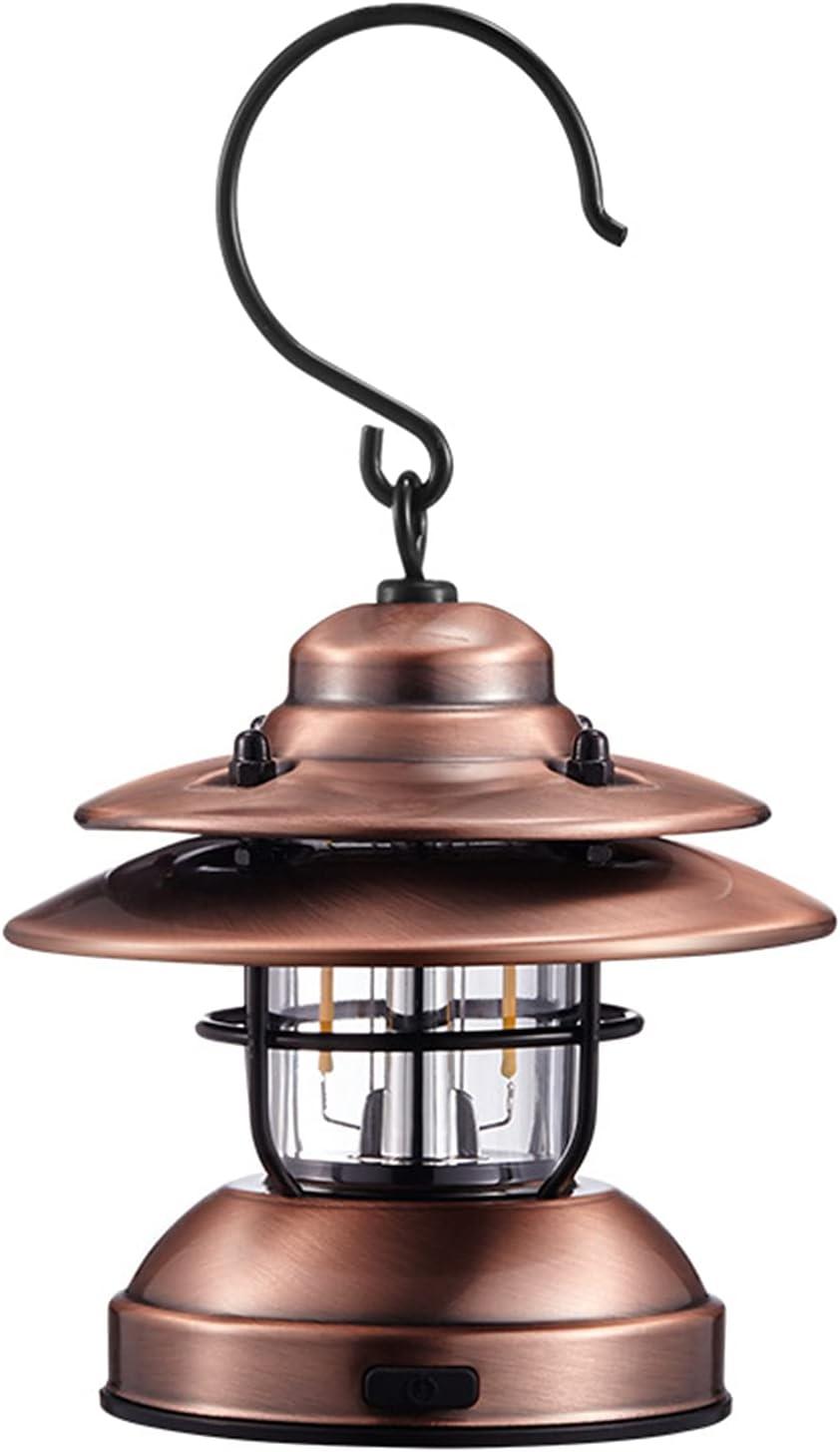 DFFng Vintage Metal Lanterns Outdoor SALENEW very Tulsa Mall popular Hanging Li Waterproof Retro