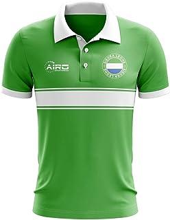 Sierra Leone Concept Stripe Polo Shirt (Green)