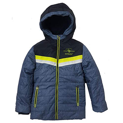 Outburst - Jungen Jacke Winterjacke Kapuzenjacke mit Reflektoren und Fleecefutter, blau - 3945804, Größe 128