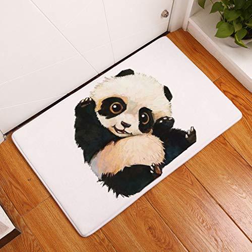 Nunbee Designer Paillasson Tapis de Sol antidérapant extérieur d'entrée Interieur Fibre de Coco Geek Noël Chat Chouette cerf Enfant Multicolore, Panda 1 40...