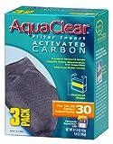 Aquaclear A1382 Activated Carbon Insert, 30-Gallon Aquariums, White,3-Pack