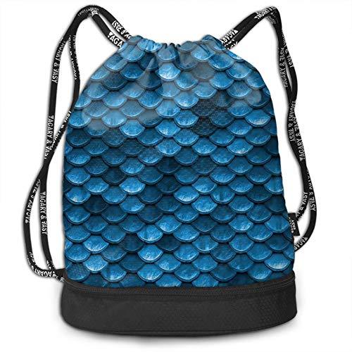 Wearibear Bolsa de gimnasio ligera con diseño de sirena, color azul oscuro, con bolsillos aislados, para viajes, golf, yoga