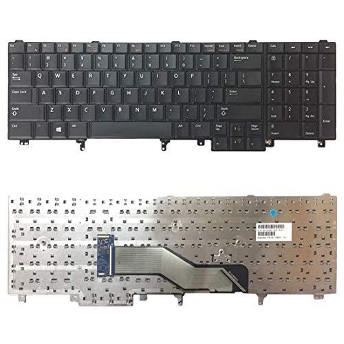 YANGJ US Version Keyboard voor Dell Latitude E6520 E6530 E6540 E5520 E5520M E5530 toetsenbord voor vervanging van laptops (kleur: Kleur)
