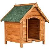 Create il rifugio ideale per il vostro amico a quattro zampe con questa fantastica cuccia: per i freddi inverni o per le calde giornate estive. // Dimensione totale con cornicione (LxPxH): 72 x 65 x 83 cm // Dimensione interna della cuccia (LxPxH): 5...