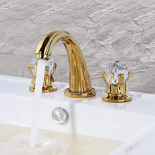 DJY-JY Oro europeo 3 piezas conjunto doble lavabo lavabo grifo baño gama alta al por mayor hermoso y durable grifo de la cocina
