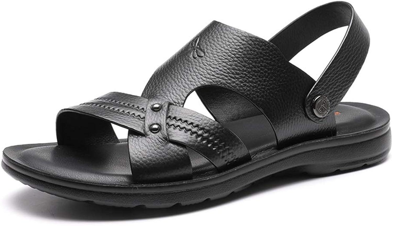 Sandaler Sandaler Sandaler Sport Sandals sommar Mans Business Sandals Open Toe utomhus strand Slippers Casual gående strand skor Home Rubber Anti -Slip Sandals (Färg  Svart, Storlek  6.5UK  8.5US)  gratis frakt