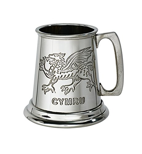 Wentworth Zinn–Quarter Pint Walisischer Drache Zinn Baby Tasse, Baby Geschenk, Andenken