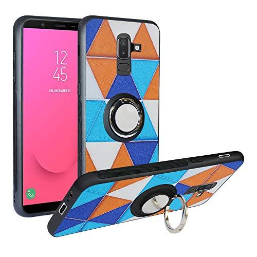 Funda para Samsung Galaxy J8 2018, Fashion Design [Antigolpes] con 360 Anillo iman Soporte, Resistente a los arañazos TPU Funda Protectora para Galaxy J810/On8 2018/A6 Plus,Triangle