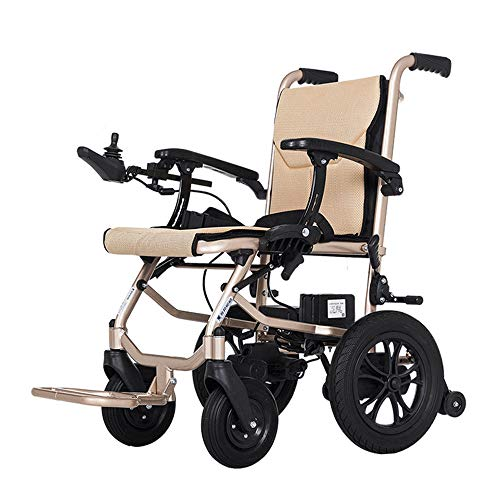 Buy Cheap JFGUOYA Deluxe Fold Foldable Power Compact Mobility Aid Wheel Chair, Lightweight Folding C...