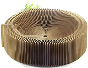 BobbyPet Cat Scratcher Lounge Bed - Collapsible Round Shape for Big cat