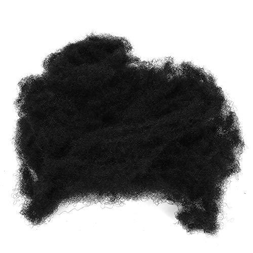 Afro Bun Puff Hair Faux Extension de Cheveux Postiches Accessoire Cheveux Noir Salon De Coiffure Lieu Professionnel Pour La Fête Cosplay Exercice Barbershop