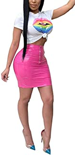 Best pink leather skirt outfit Reviews