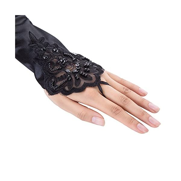 Xuhan 15″/ 21″ Long Flapper Evening Opera Satin Gloves for Women Elbow Length 1920s