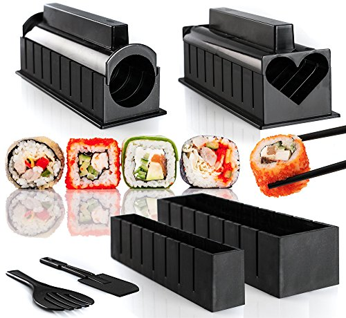 WeLoveCooking Kit de Fabrication de Sushi – 6 Cute Sushi Formes – Instructions étape par étape incluses