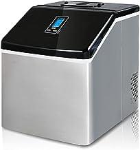 Comptoir compact électrique électrique Machine de fabricant de glaçons carré automatique, 55lbs / 24h auto-nettoyage autom...