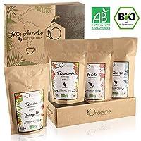 ?? CAFE GRAIN 1kg BIO | Café en Grain Arabica | Coffret café dégustation, Torréfaction Artisanale, 4x250g | Idée Cadeau