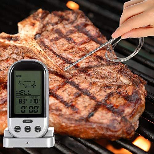 Digital-Fleisch-Thermometer - Wireless-LCD-Lebensmittel Kochen Instant-Thermometer Lesen, Alarm Monitor Thermometer Für Grill, Flüssigkeiten, Milch, Steak, Huhn, Backen, Küche