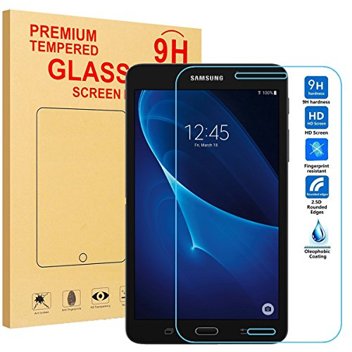 BMOUO Samsung Galaxy Tab A 7.0 Screen Protector - Tempered Glass Screen Protector for Tab A 7.0 ((SM-T280, SM-T285) [9H Hardness] [Crystal Clear] [Bubble Free]