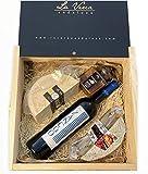 Caja Maridaje Tierra de Sevilla (Pack SZ-3): Incluye 1 Queso de Cabra Payoya +1 Queso con especias + Vino tinto Zancúo + Miel. Marca La Verea Andaluza