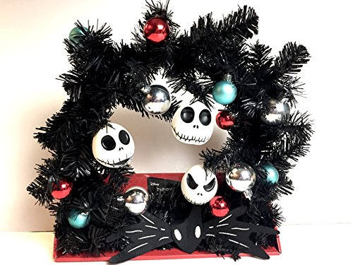 Halloween Wreath with Jack Skellington Head