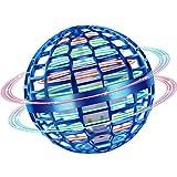 MINIFUN Flying Ball Toys, Flying Hand Toy,RGB Light Rotator 360° Rotating UFO, Mini Drone Flying Boomerang Ball Gift Selection boy Child Adult Indoor Outdoor