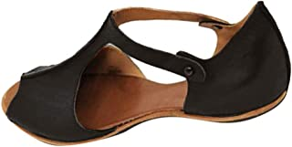 Women's Cute Open Toes One Band Ankle Strap Flexible Summer Flat Sandals New