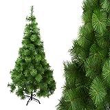 Arcoiris ® Árbol de Navidad Artificial, Agujas de Pino, Natural Verde, Material PVC, el Soporte de Metal, 150cm - 210cm, (Árbol Agujas de Pino, 180cm)