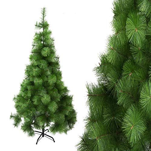 Arcoiris Albero di Natale Artificiale Agrifoglio, Verde Naturale, Materiale in PVC, Supporto in Metallo (150 CM, Aghi di Pino)