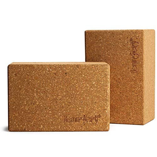 HemingWeigh Set of 2 Cork Yoga Blocks