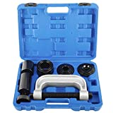 KUNTEC 10Pcs Heavy Duty Ball Joint Press U Joint Removal Installation Tool Kit with 4 Adapters for Most 2WD and 4WD Cars and Light Trucks
