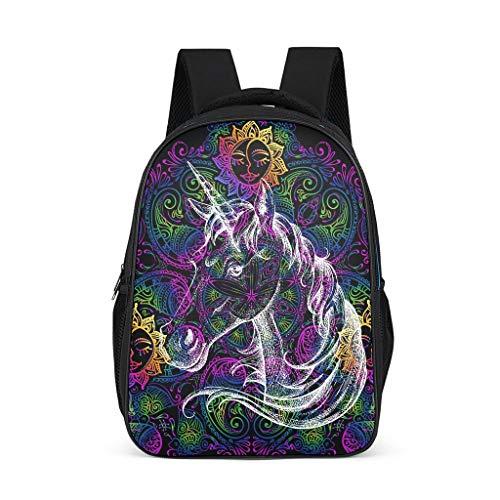 Dofeely Unicorn patroon schoolrugzak stijlvolle praktische schooltas meisjes jongens & kinderen jongeren dames rugzak voor outdoor shopping 32 c * 18 * 42 cm polyester