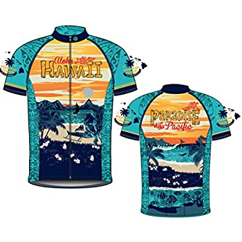 CANARI Men s Souvenir Cycling/Biking Jersey Hawaii Retro Medium