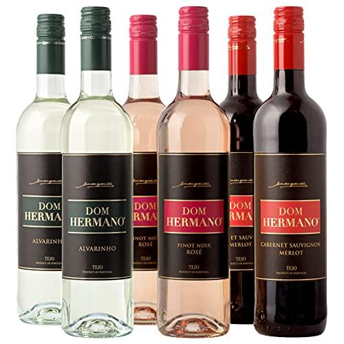 Dom Hermano - Sortiment Probierpaket - 2x Flaschen Weißwein - 2x Flaschen Roséweine - 2x Flaschen Rotwein - (6 x 0,75l) - Wein Geschenk - Portugiesischer Wein - IGP Tejo