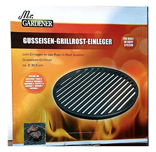 Mr. Gardener Grillrost-Einleger - Gusseisen - Durchmesser 30,5 cm - für Rost-in-Rost System