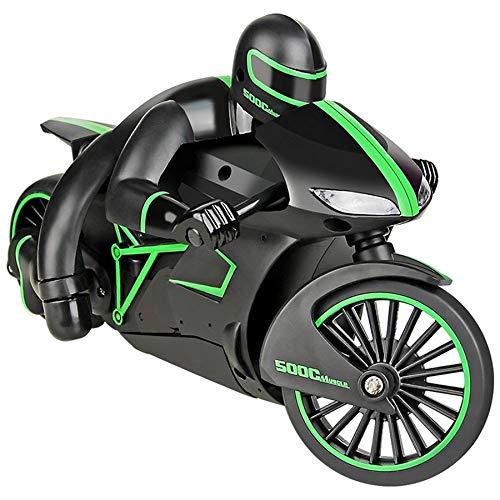 TOOGOO 2.4G RC Motocicleta con Luz FríA Alta Velocidad RC Moto Modelo Juguetes Control Remoto Drift Motor Mejor Regalo para Ni?Os