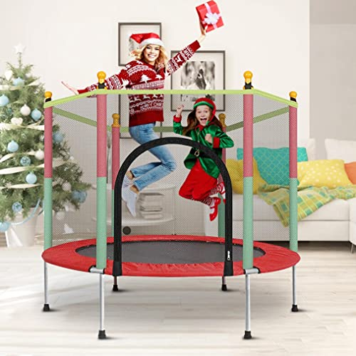 Tengma Trampoline for Kids with Safety Enclosure Net and...