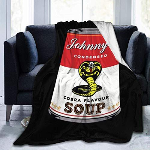 KOMOBB Cobra Kai Johnnys Cobra - Manta de franela de forro polar con cobra condensada, ligera, ultrasuave, cálida, apta para sofá, 130 cm x 150 cm