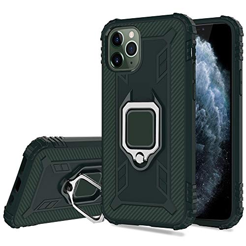 HHF Accesorios Para IPhone X XS XS XR Max, a prueba de golpes armadura pata de cabra casos de teléfono magnética del sostenedor del coche del anillo de la cubierta completa de proteger el teléfono Par