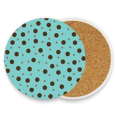 Premium Coasters,Drink Round Coasters No Holder,Ceramic Coasters For Home Bar Kitchen Decor
