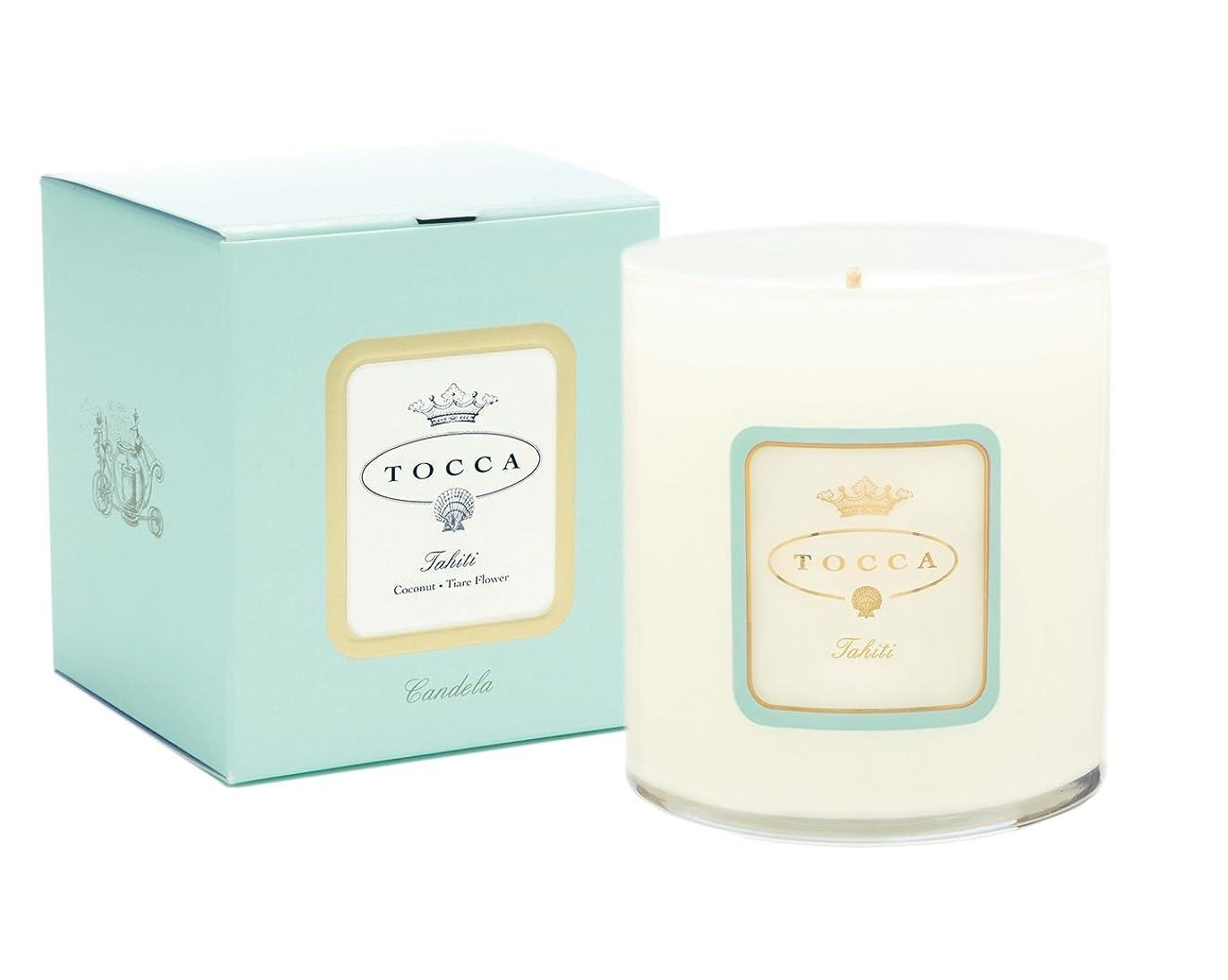 デッキ文法裁判所トッカ(TOCCA) キャンドル タヒチの香り 300g(ろうそく)