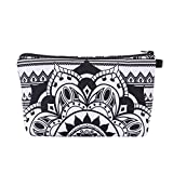 Cosmetic Bag for Women,Adorable Smith Sursee Makeup Bags Travel Waterproof Toiletry Bag Accessories Organizer Gifts (Black&Gold Peacock)