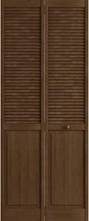 Kimberly Bay Traditional Louver Panel Espresso Solid Core Wood Bi-fold Door (80x30)