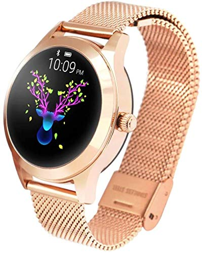 TYUI IP68 Reloj inteligente impermeable para mujer, seguimiento de sueño, recordatorio de periodo menstrual, compatible con teléfonos móviles Android e iOS, B