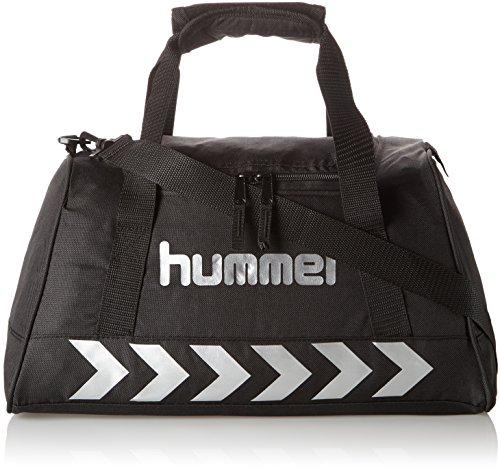 Hummel Authentic Sports Bag Sporttasche, Größe:M, schwarz(Black/Silver), 60x31x27cm, 38 Liter