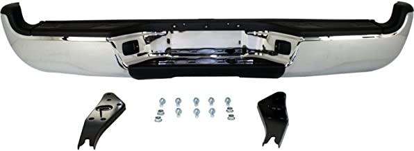 Rear Step Bumper Compatible with Toyota Tacoma 2005-2015 Assembly Chrome Steel with SR5 Pkg. Fleetside