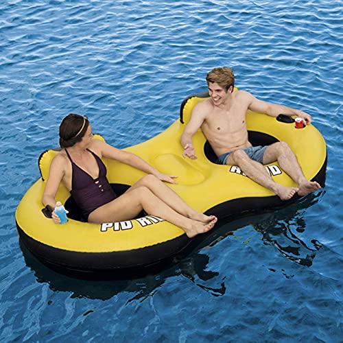 Hamaca Flotante Inflable, Natación Al Aire Libre Playa Cama Flotante Piscina Salón Ocean Park Agua Cama Inflable Doble Cama Flotante Fila Flotante Hamaca Verano