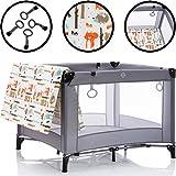 Laufstall/Reisebett mit Greifringen und inklusive Matratze (100% Baumwolle) Kinder Baby