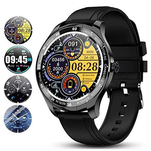 JIAJBG Reloj inteligente, IP67 impermeable con pantalla táctil completa de 1.3 pulgadas, rastreador de actividad física, monitor de ritmo cardíaco, monitor de sueño, podómetro notificación de llamadas