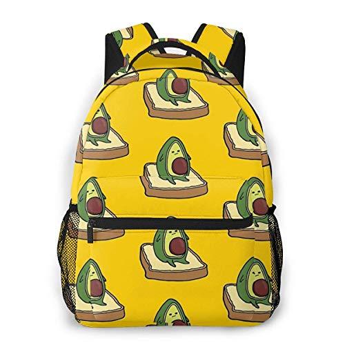 Avi The Avocado On Toast – Meh Causal Daypack Rucksack Vintage College Schultaschen Mehrzweck-Laptop-Rucksack für Schule/Business/Arbeit/Herren/Damen