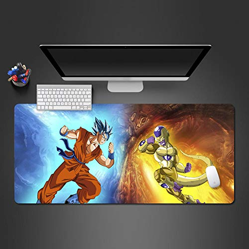 ROZEIP Grande Tappetino Mouse da Gioco XXXL Oversize Mousepad Supereroe di combattimento anime 900x400mm impermeabile, resistente e con bordi cuciti, ideale per gaming e computer portatili da ufficio